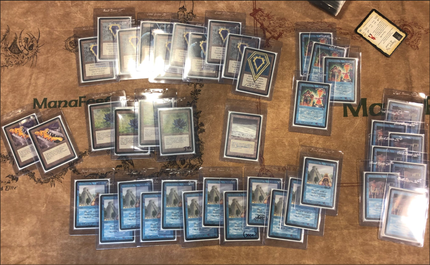 An actual deck played by Steven Menendian in a tournament designed to follow the rules - or lack thereof - in original 1993 Alpha Magic. 90% of the cards are copies of the Power 9.