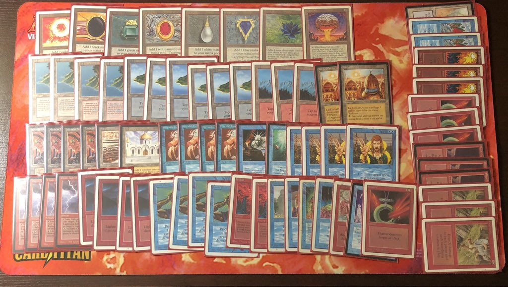 """The cherished and beautiful """"counterburn"""" deck Nick plays in Old School Magic events"""