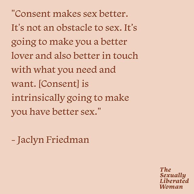 """So many people enjoyed listening to episode 42 featuring @evyan.whitney speaking to @jaclynfable about consent! There was one thing Jaclyn said during the episode that really resonated with me, which is this quote: """"Consent makes sex better."""" And it made me want to pose this question: How has consent made sex better for you?  Comment below and share what's on your mind. And if you haven't yet, check out the episode """"Consent Is Actually Sexy"""". @jaclynfable shared so much wisdom and this episode should honestly be required listening for everyone."""