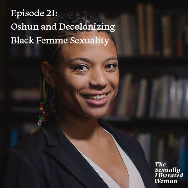 This week, we brought back one of the most popular episodes of the #sexuallyliberatedwoman to date—this incredible conversation with @dr.zel about Oshun (a Yoruba deity that symbolizes sexuality and femininity; some even call her The First Feminist) and what it means and looks like to decolonize Black femme sexuality. Even if you don't ID as Black or femme, this conversation about #osunality (a term coined by Dr. Zelaika) will inspire you to prioritize your pleasure and explore your sexuality outside of systems of oppression. A must-listen!  Take a listen to this episode by clicking the link in our bio, or search 'The Sexually Liberated Woman' in Spotify, Apple Podcasts, and Soundcloud.