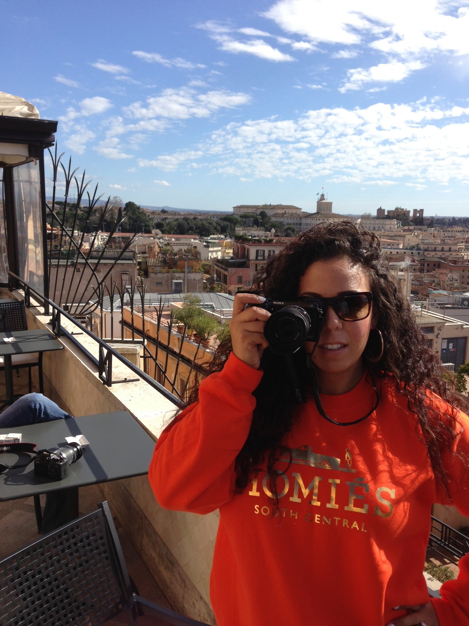 Taking pictures in Rome, Italy