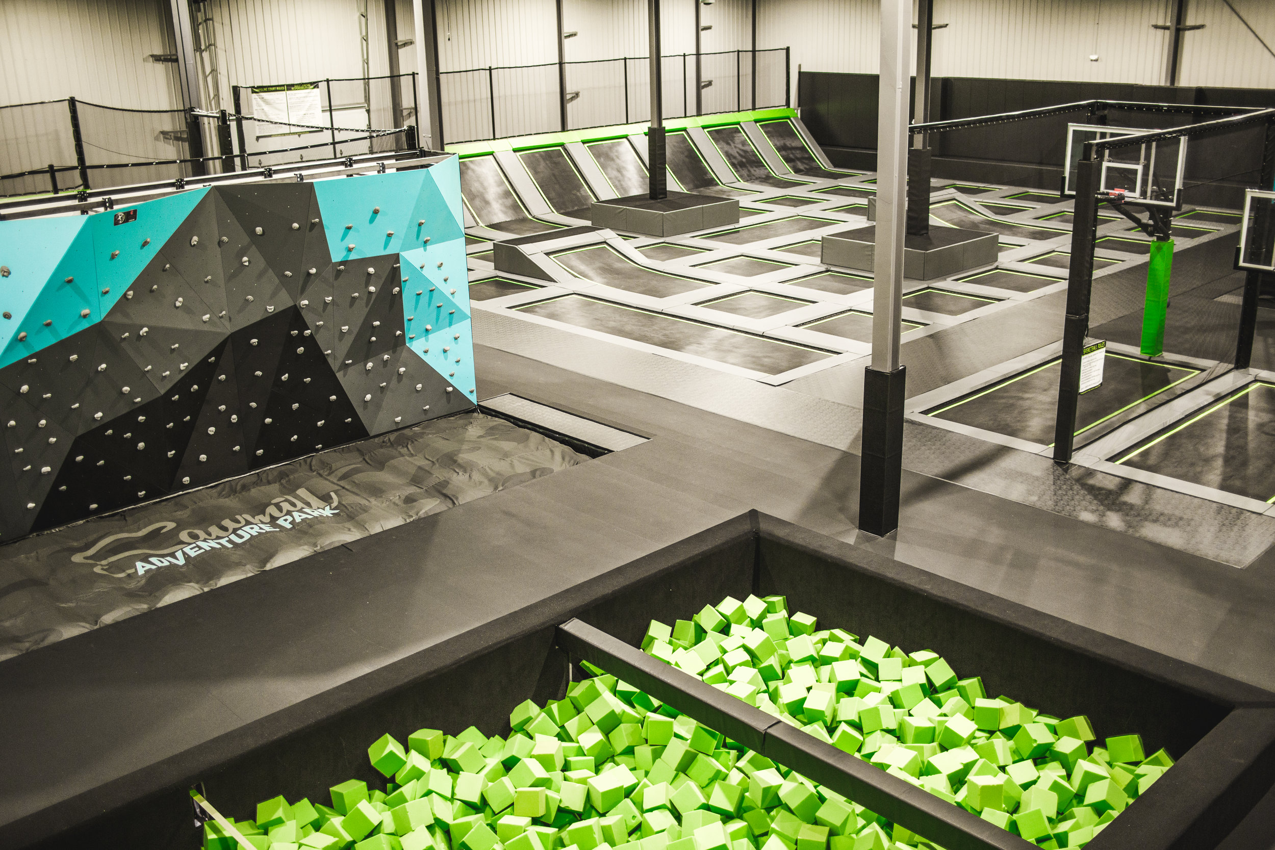 TRAMPOLINE DODGEBALL - Keep score or play to get an intense cardio workout. Best sport to ever hit the trampolines!