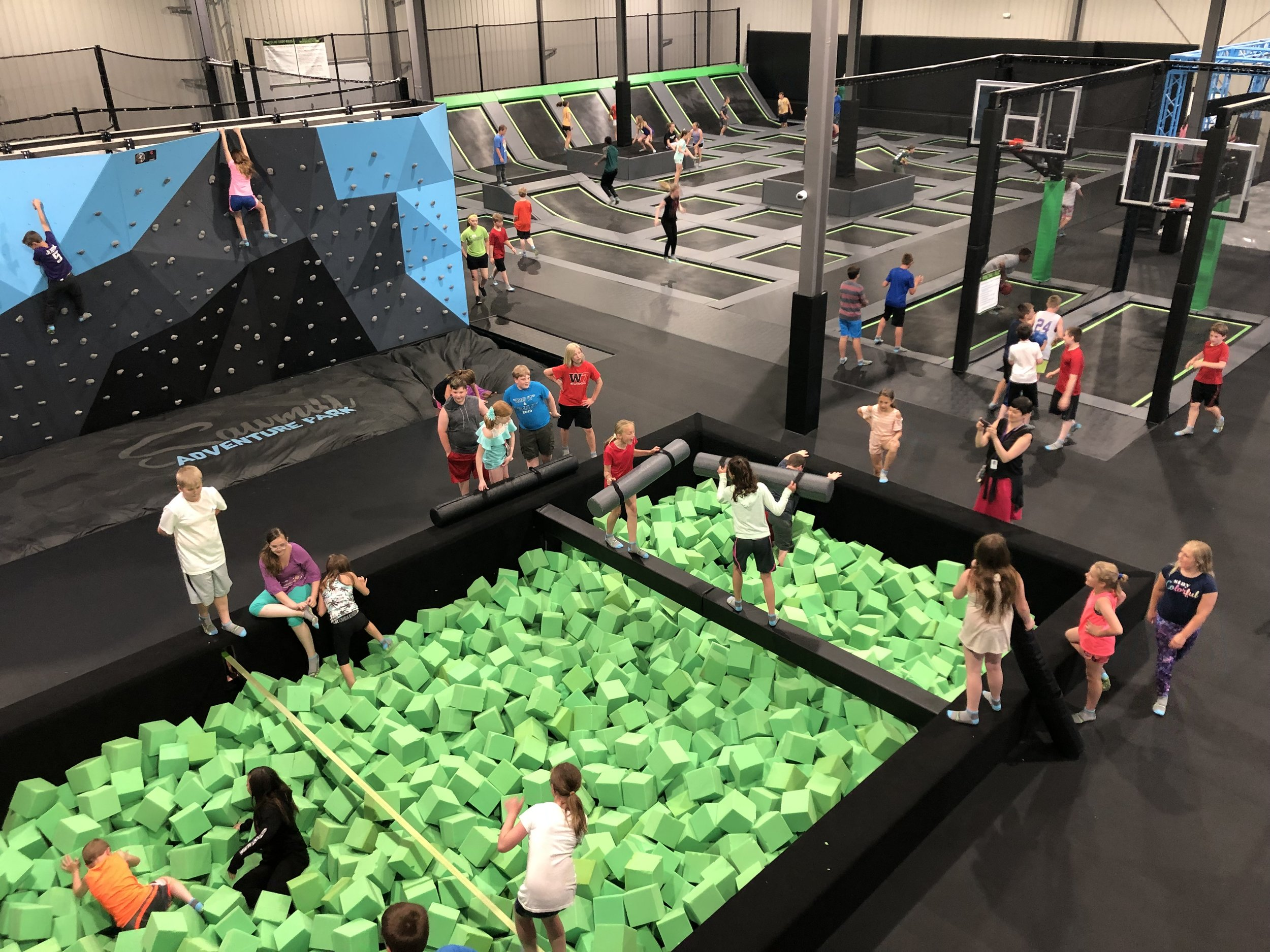 TRAVERSE CLIMBING WALL - Race your friends to the top or try the belay tower for a difficult full body challenge.