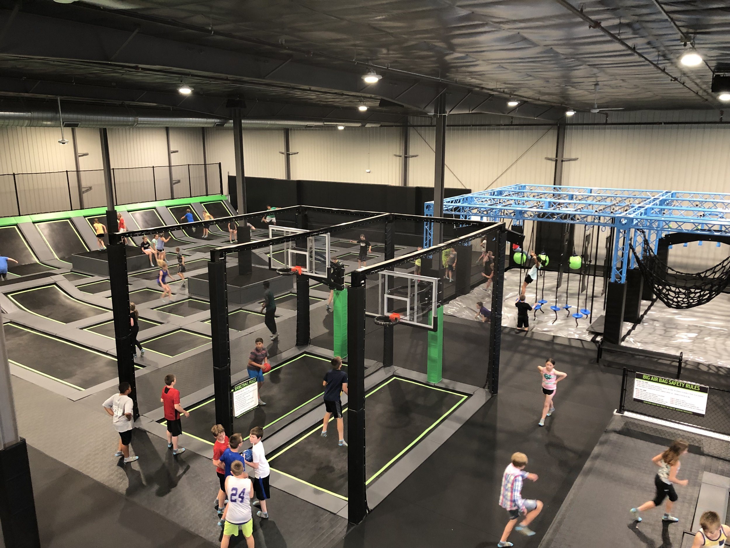 OPEN JUMP & TOT TIME - Bounce, jump, flip and soar across dozens of connected trampolines and off the trampoline walls.