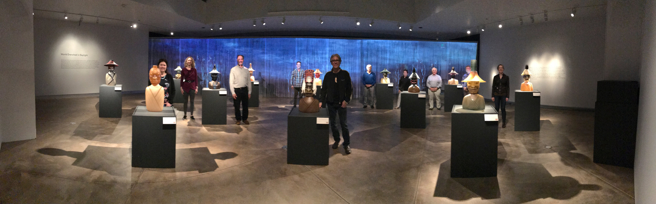 Preston at his exhibition with our group.