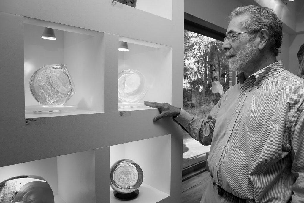Bernie D'Onofrio at Schantz Galleries. photo: Lisa Vollmer