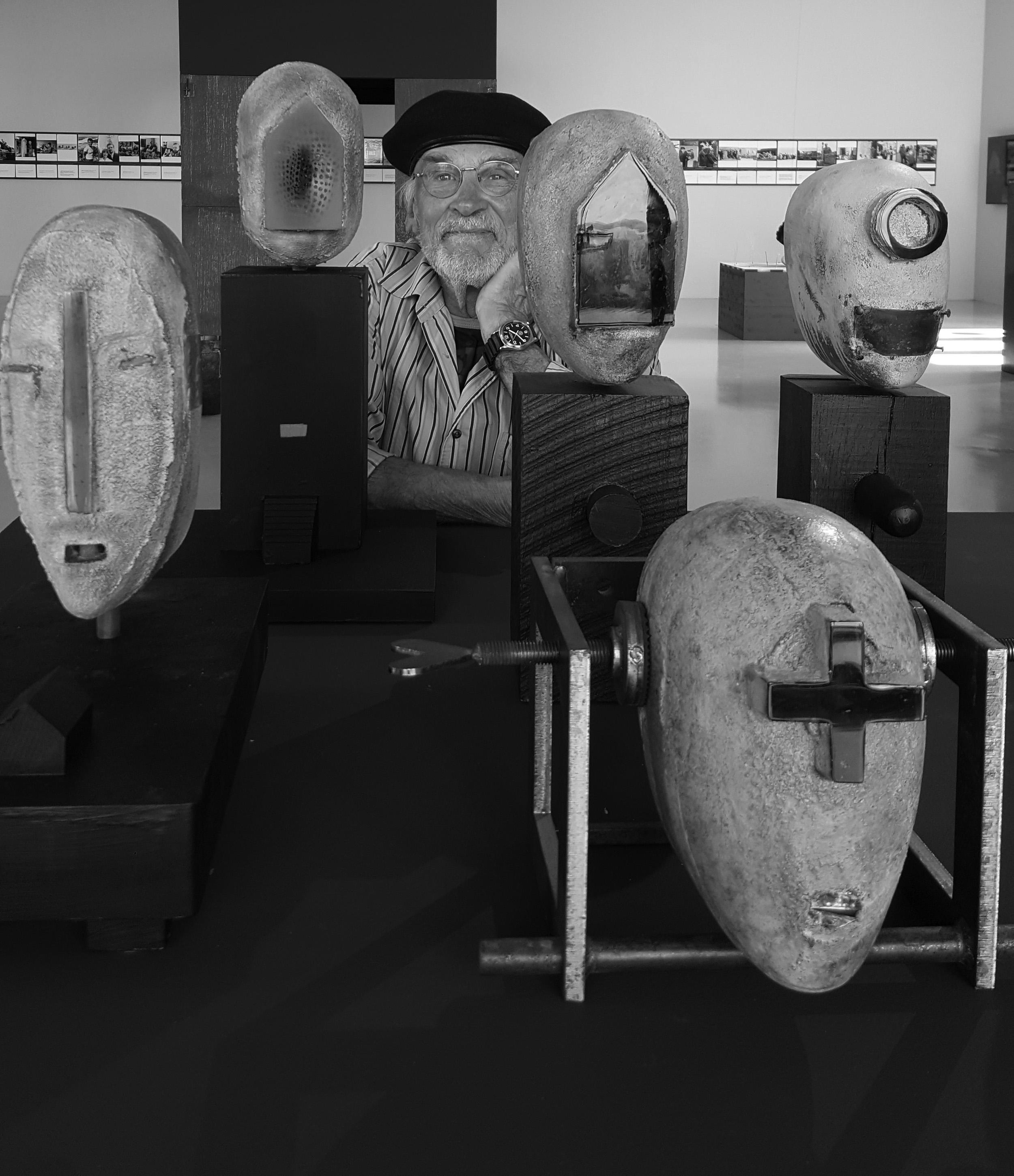 Bertil Vallien at VIDA Museum in Sweden. photo Kim Saul
