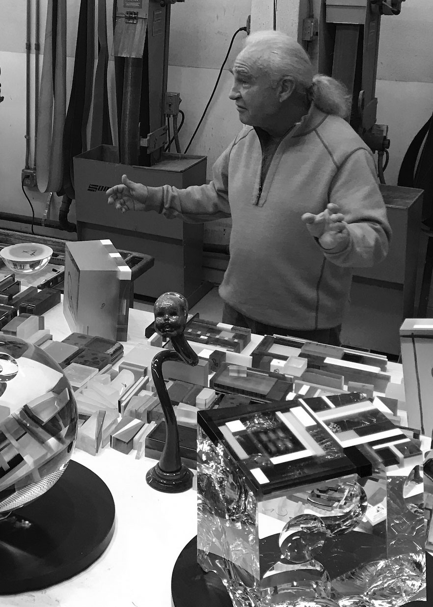 David Huchthause in his studio. M Stubblefield photo.