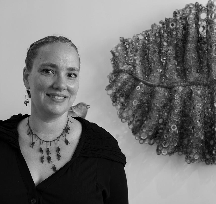 Kait Rhoads at Schantz Galleries. photo: Lisa Vollmer