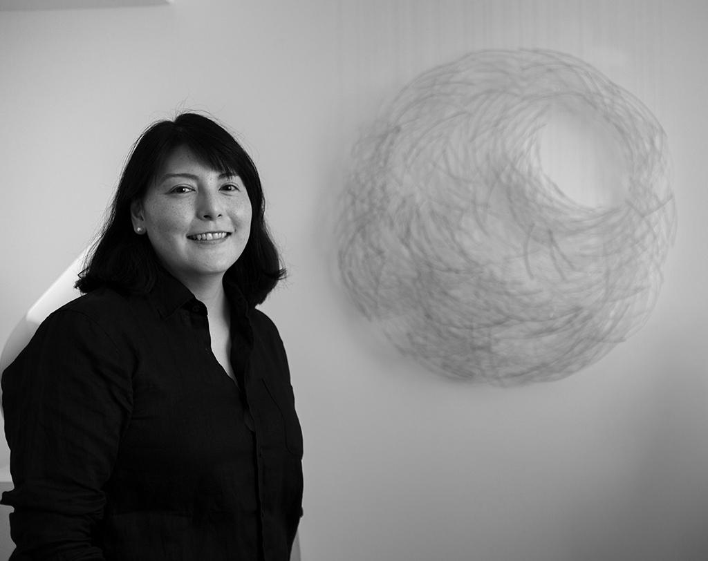 Harue Shimomoto at Schantz Galleries. photo: Lisa Vollmer
