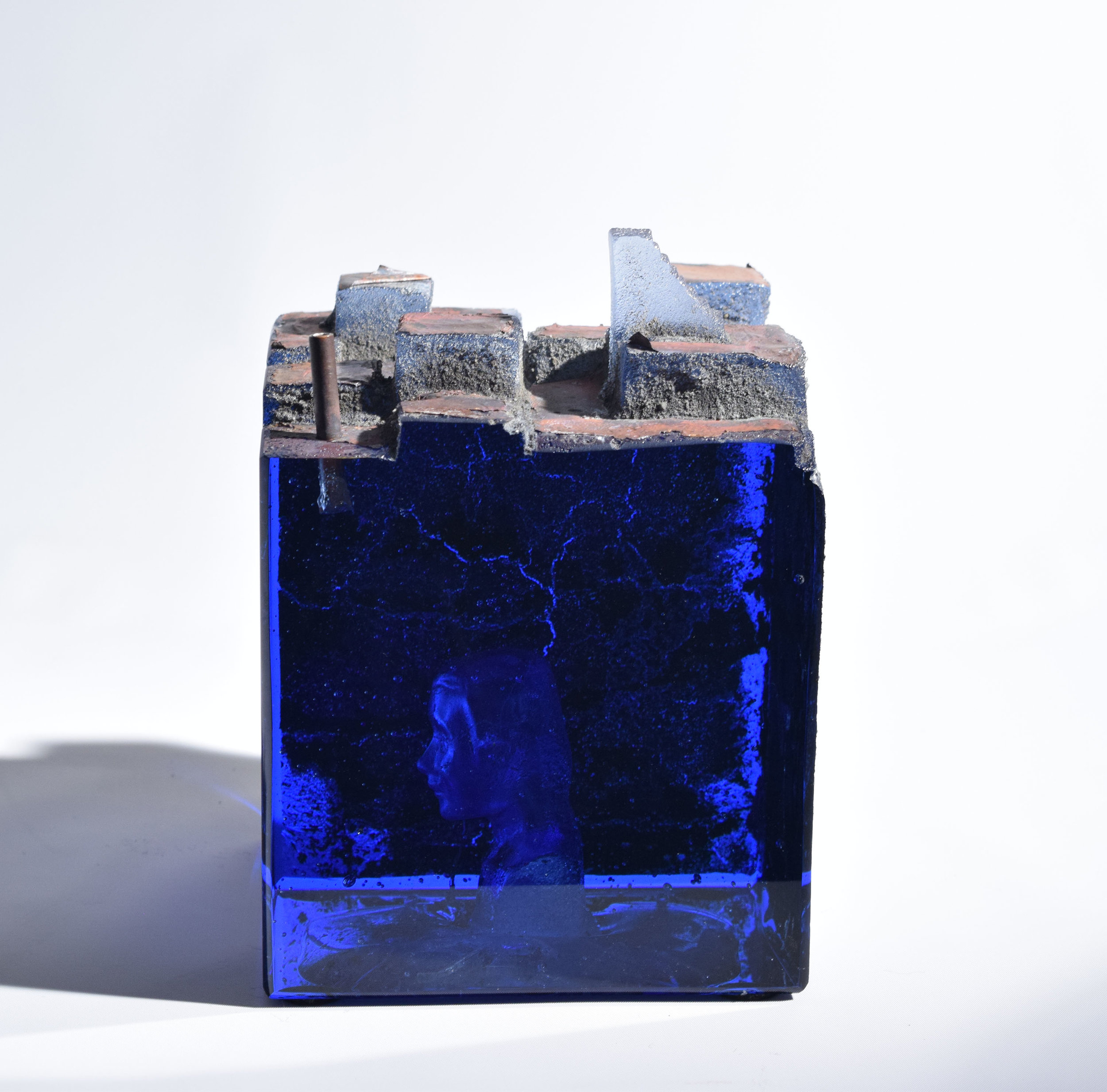 Landscape,  2019, Sand cast glass, 8 x 5.7 x 5.7""