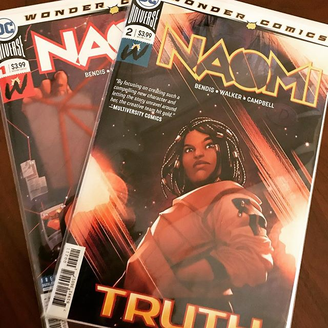 Just finished Issue #2 of Naomi. The mystery unfolds. Can't wait to discuss with my co-hosts @jamie_zo & @wallyanalog this week. LINK IN BIO for previous episodes of Naomi: The '82 Podcast. #naomi #brianmichaelbendis #davidfwalker #jamalcampbell #dc #dccomics #wondercomics #podernfamily #insomniac