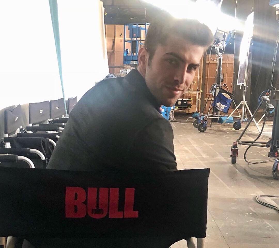 Myles Clohessy on set of BULL Courtesy of CBS