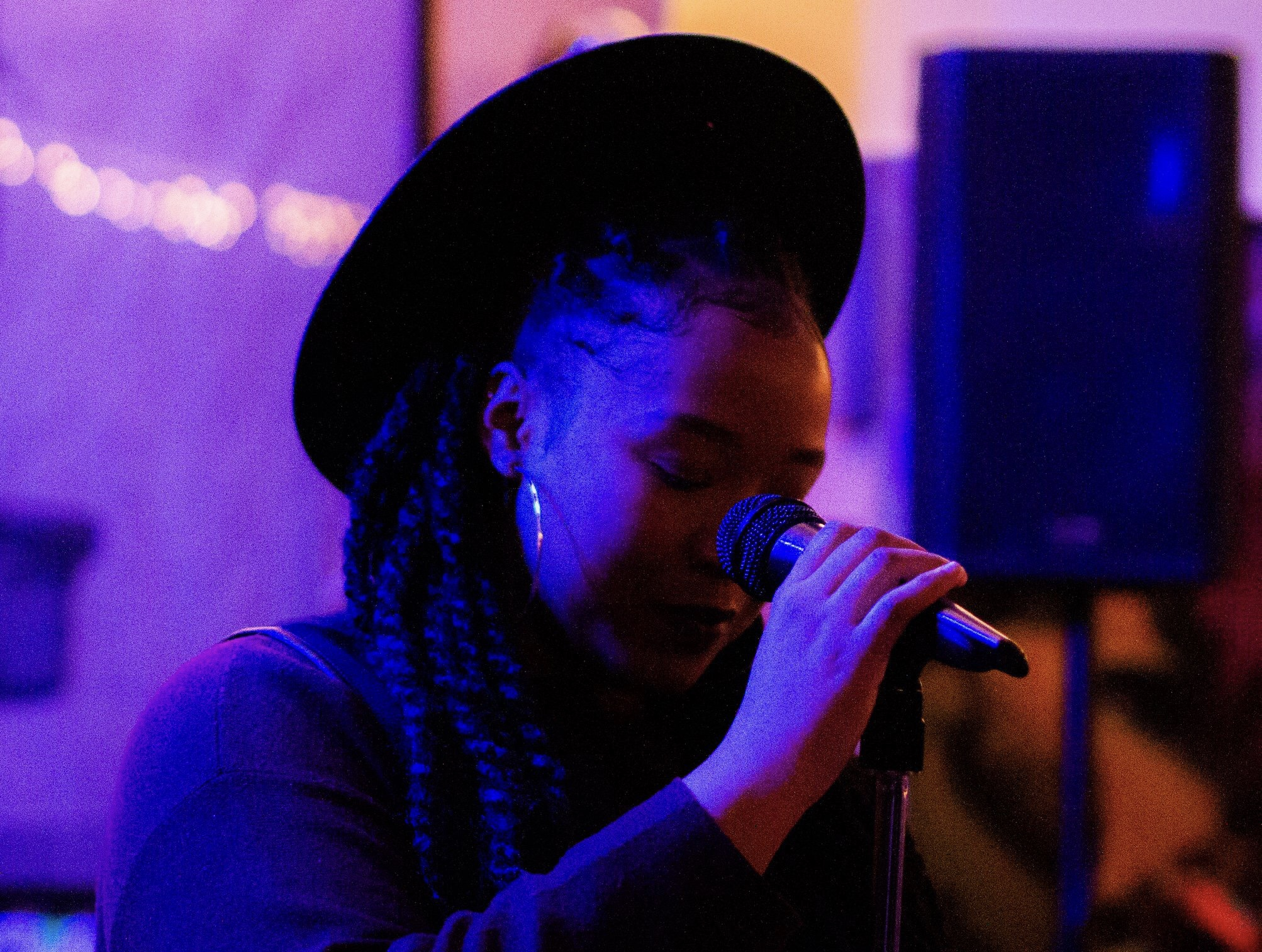 Aleecya Foreman performing at BPT Creates. |  Courtesy of Letif Belcher of Letif B Photos