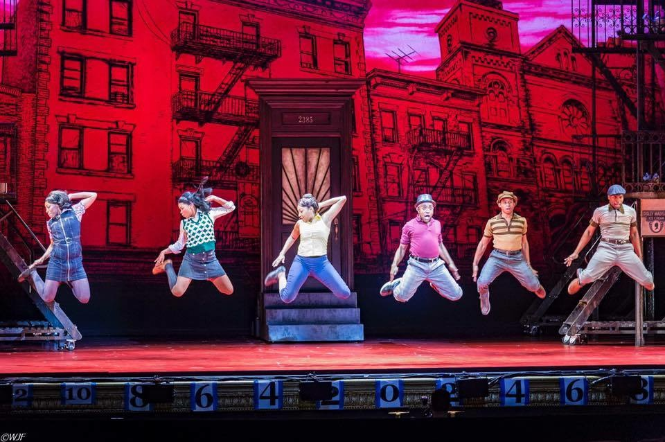 Pictured L-R Brandi Porter, Ashley McManus, Brianna Marie-Bell, Jason Williams, Kirk Lydell, Antonio Beverly in Broadway's 'A Bronx Tale' in October 2018 at Hollywood Pantages |  Courtesy of Joan Marcus Photography