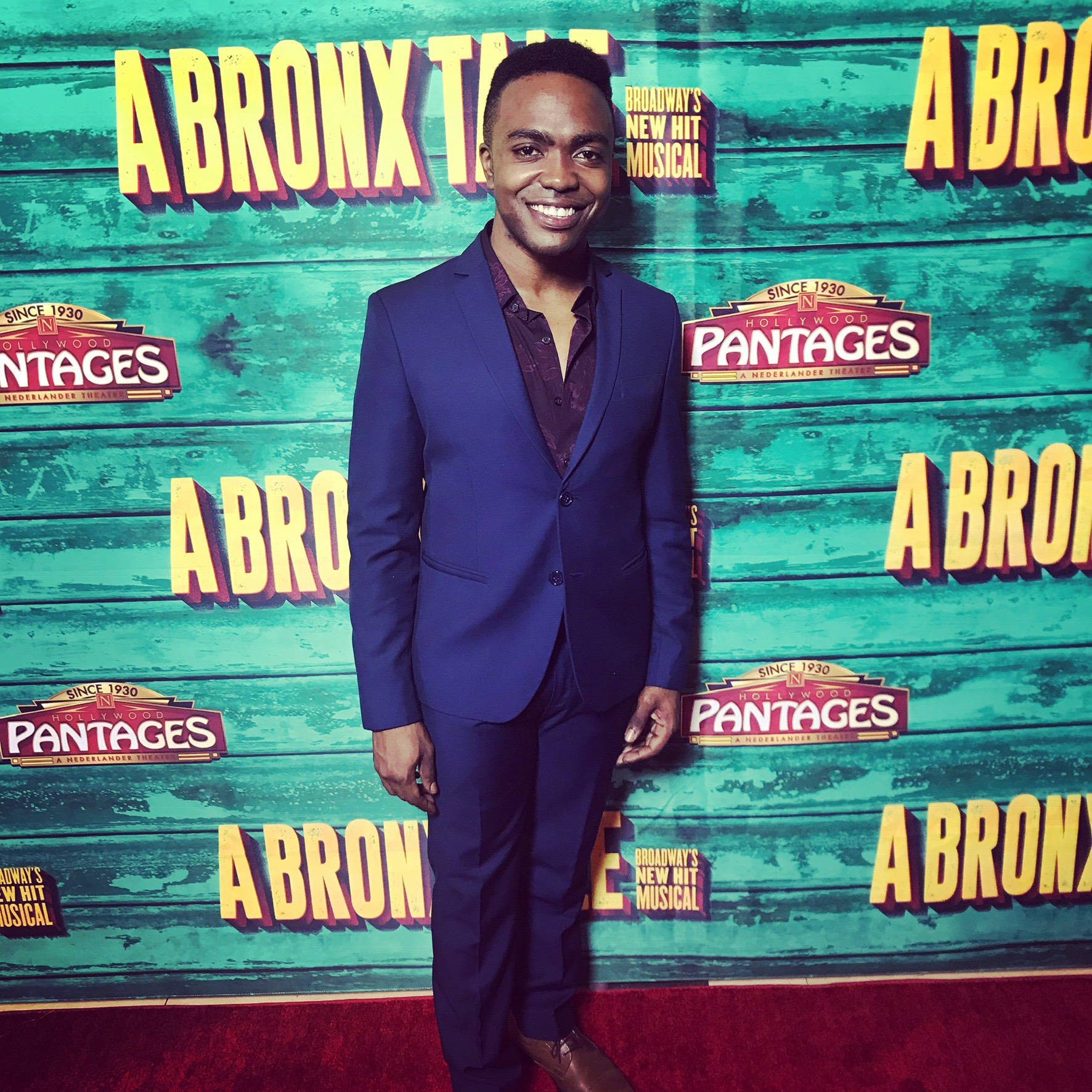 Jason Williams on the red carpet for Broadway's 'A Bronx Tale' |  Courtesy of Jason Williams and Broadway's 'A Bronx Tale'