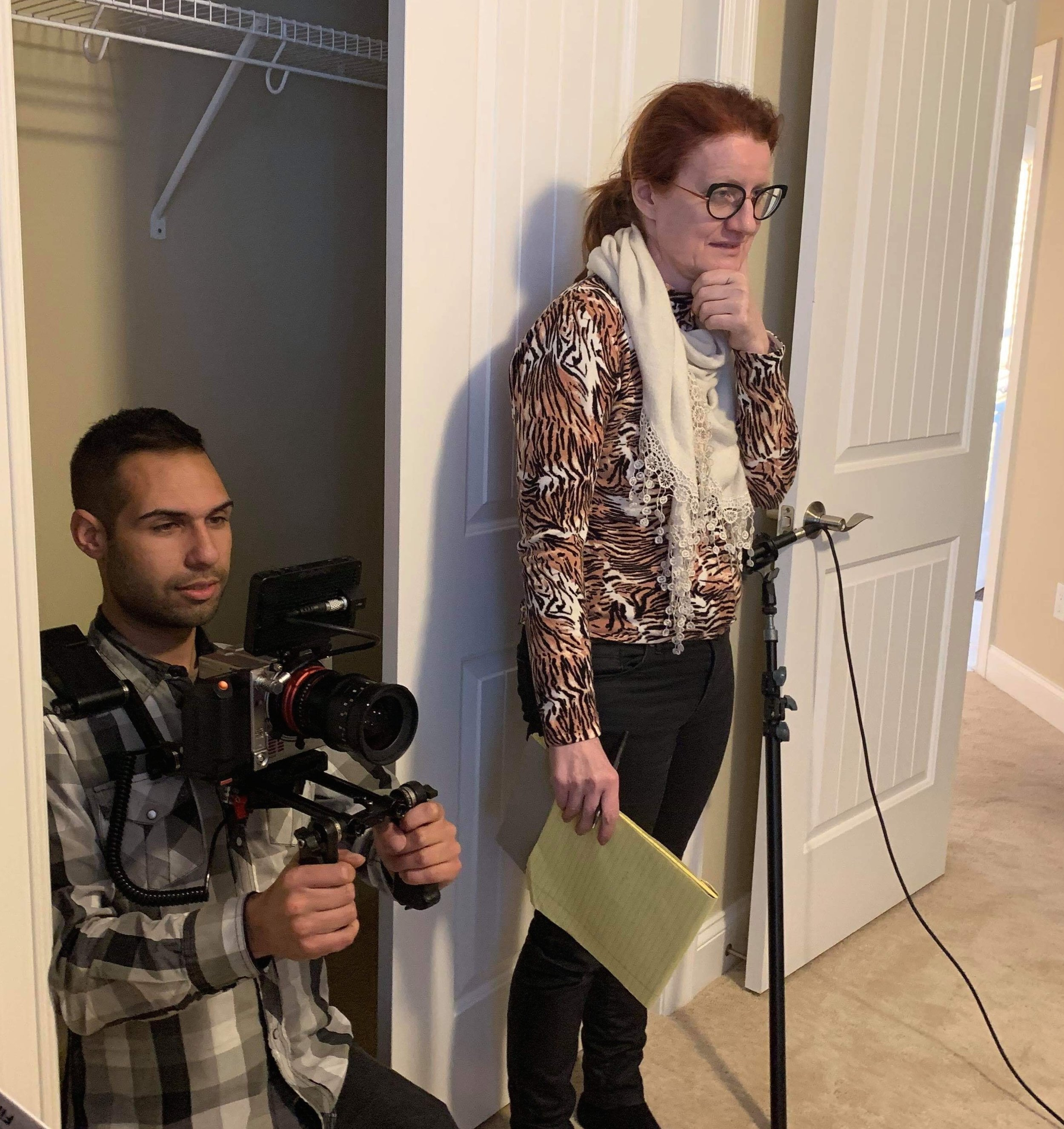 Behind The Scenes with Director Of Photography Ben Chatfield and Sonia Conlin on set for 'These Streets Don't Love You Like I Do"