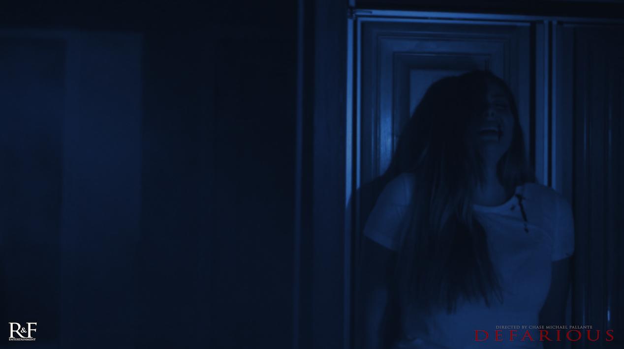 Janet Miranda terrified in DEFARIOUS |  Courtesy of RNF