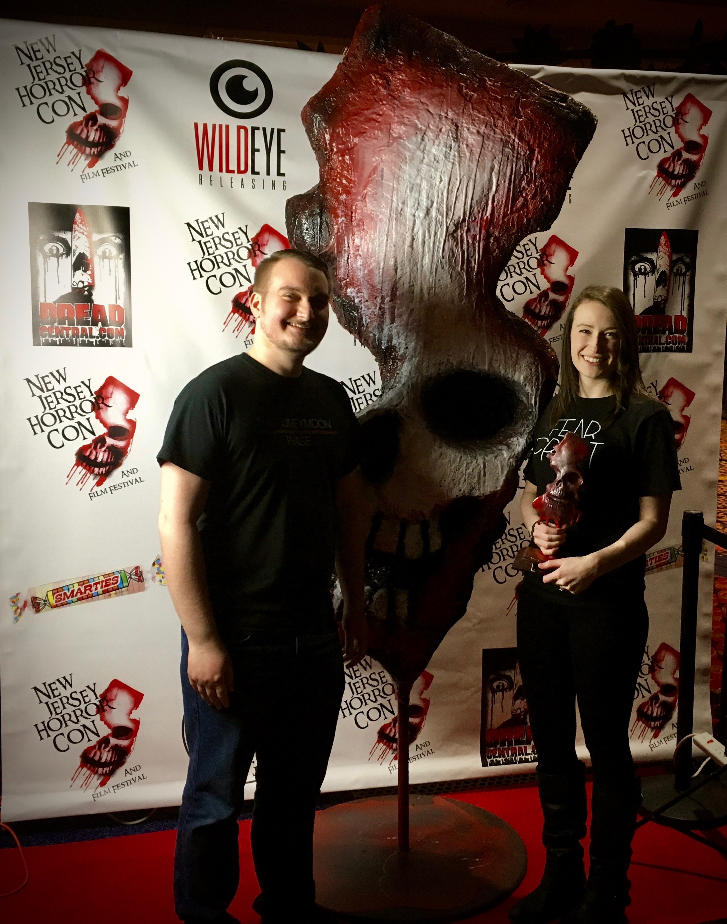 Phillip. G Carroll Jr and Chloe Carroll at NJ Horror Con and Festival in Atlantic City on March 31, 2019 |  Courtesy of Chloe Carroll