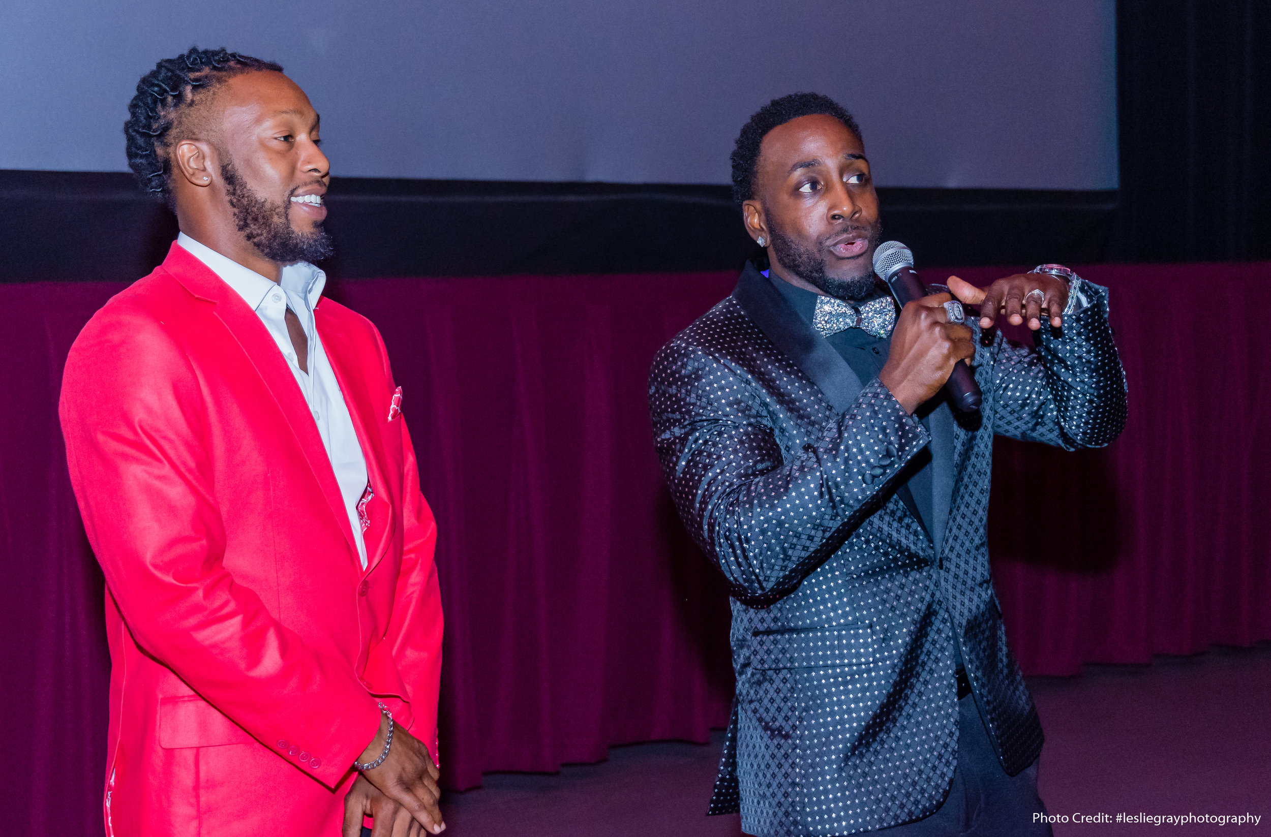 Bryan Boykins (Writer/Director) and Troy Williams at the red carpet premiere on July 23, 2018 of The Watchman's Edict at AMC Bradenton 20 in Bradenton, FL. | Courtesy of Leslie Gray Photography