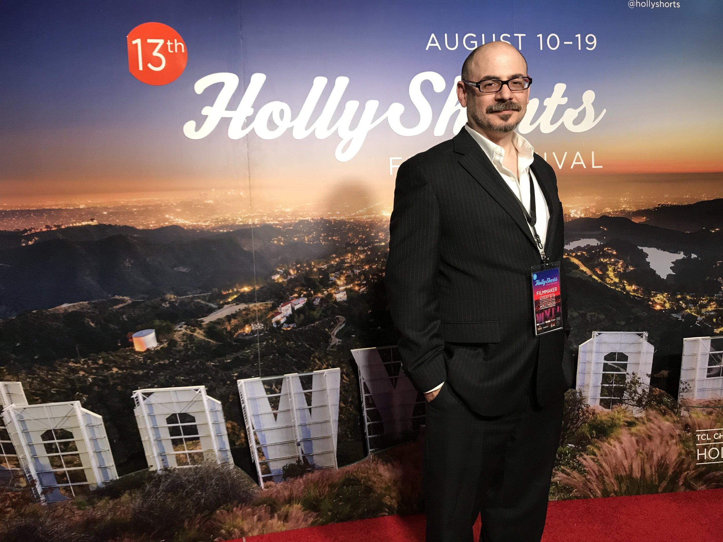 Jason Ragosta attending the HollyShorts Film Festival at Los Angeles in 2017 |  Courtesy of Michael Paul