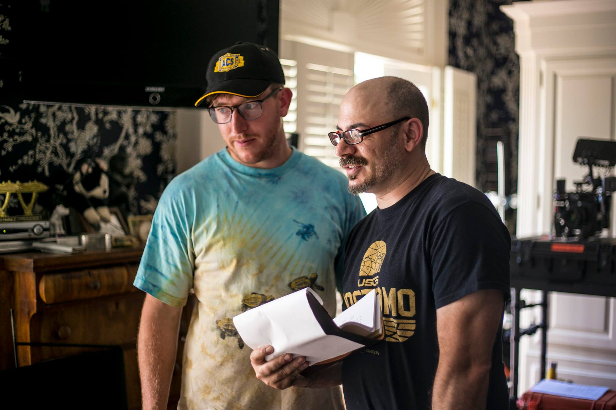 Pascal Combes-Knoke and Jason Ragosta on the set of UH OH Music Video |  Courtesy of Olivia Riportella