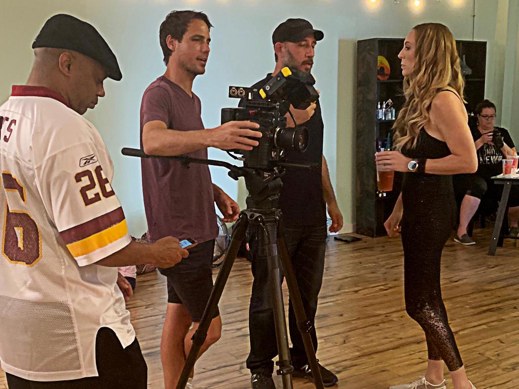 Joey Ross, Ryan Lightbourn, Fred Zara, Erin Laine, and Kris Zara on set for 'High Existence' in June 2019 |  Courtesy of Michelle Oliver