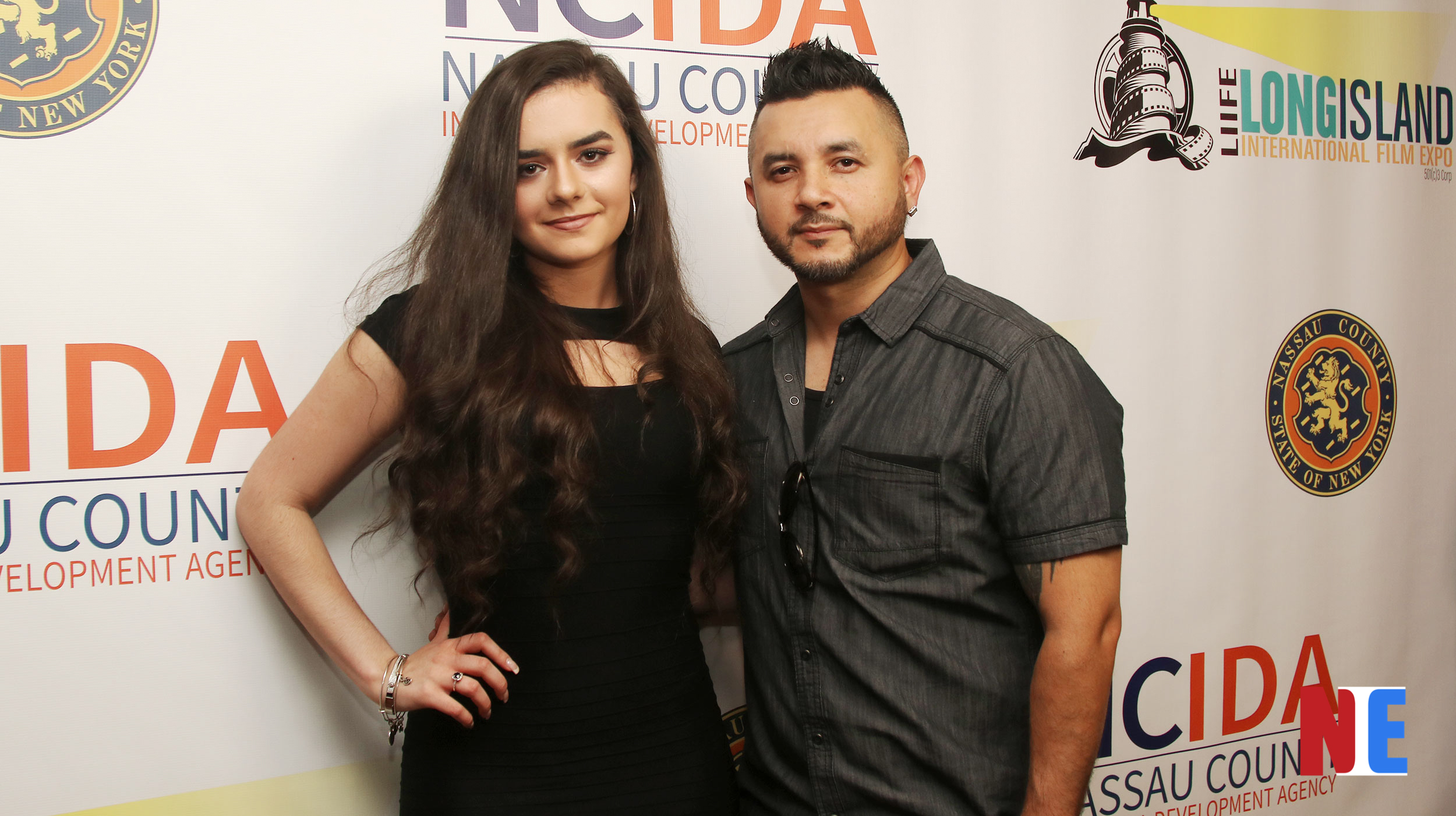 Sammi Rae and Los Vegas attend the red carpet award ceremony for the Long Island International Film Expo at the Bellmore Movies and Showplace in New York on July 18, 2019 |  Courtesy of NIE