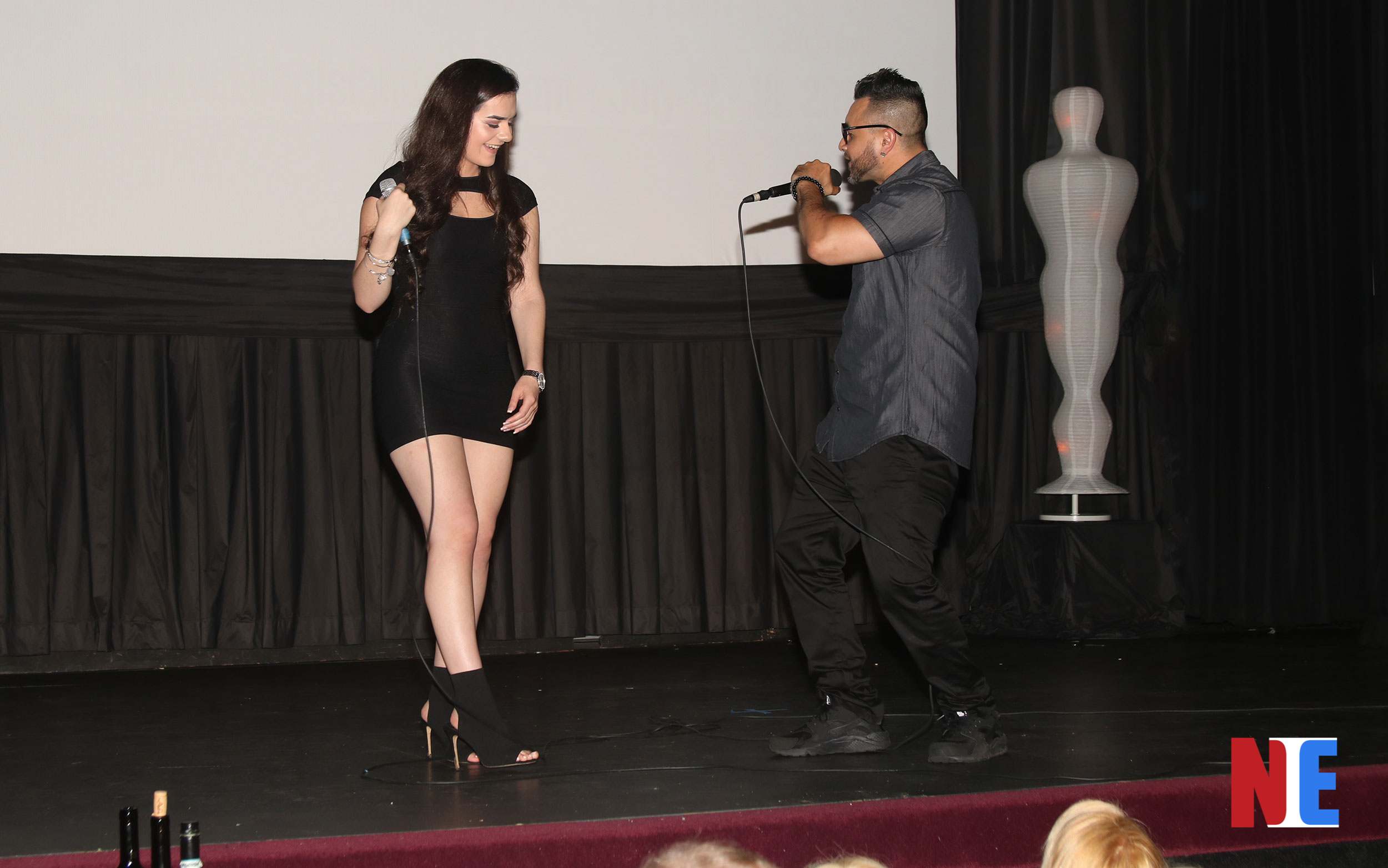 Sammi Rae and Los Vegas perform at the red carpet award ceremony for the Long Island International Film Expo at the Bellmore Movies and Showplace in New York on July 18, 2019 |  Courtesy of NIE