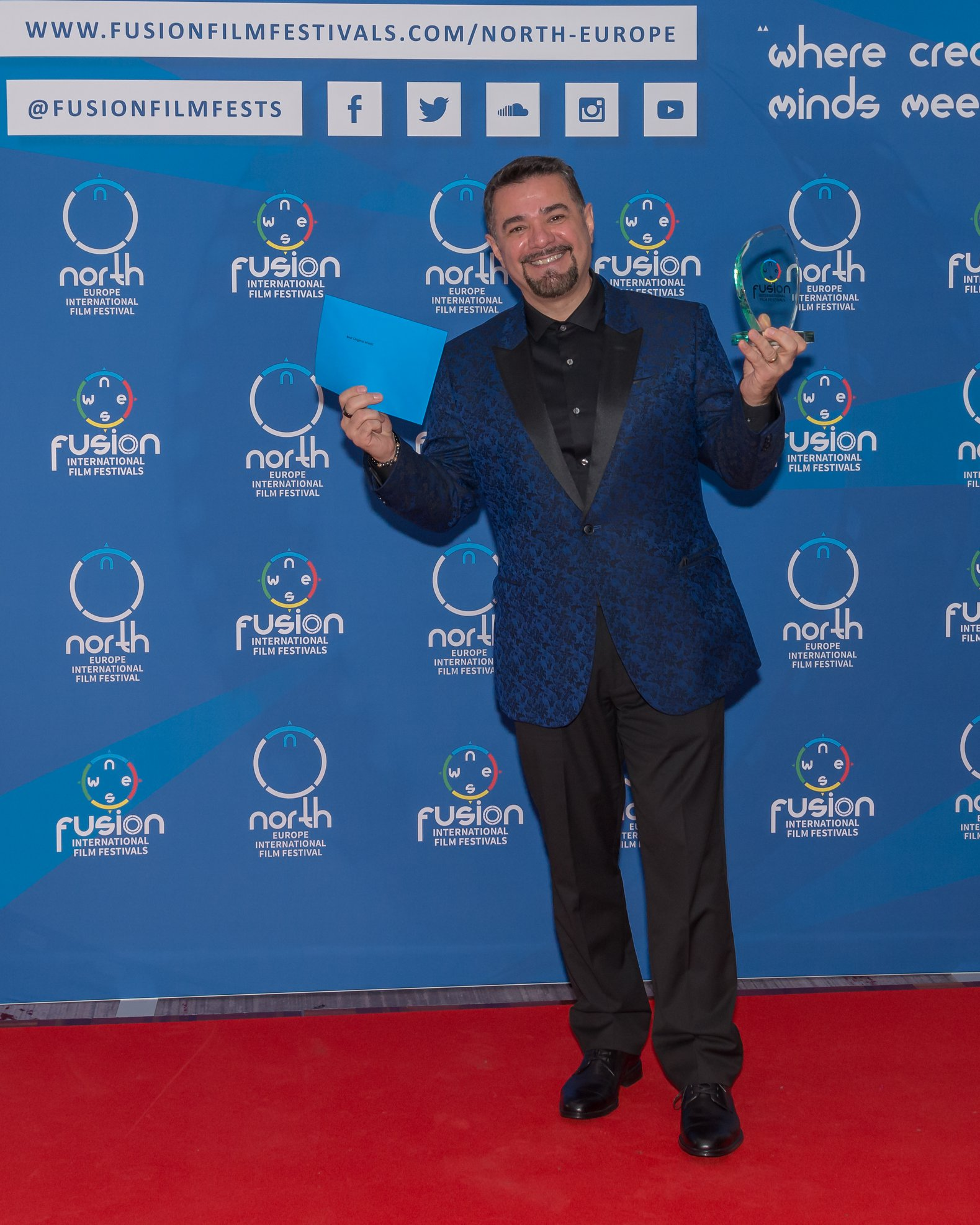 Eddie Torres attending the North Europe Fusion International Film Fest in February 2019 |  Courtesy of Stuart Watson/Fusion Film Festival