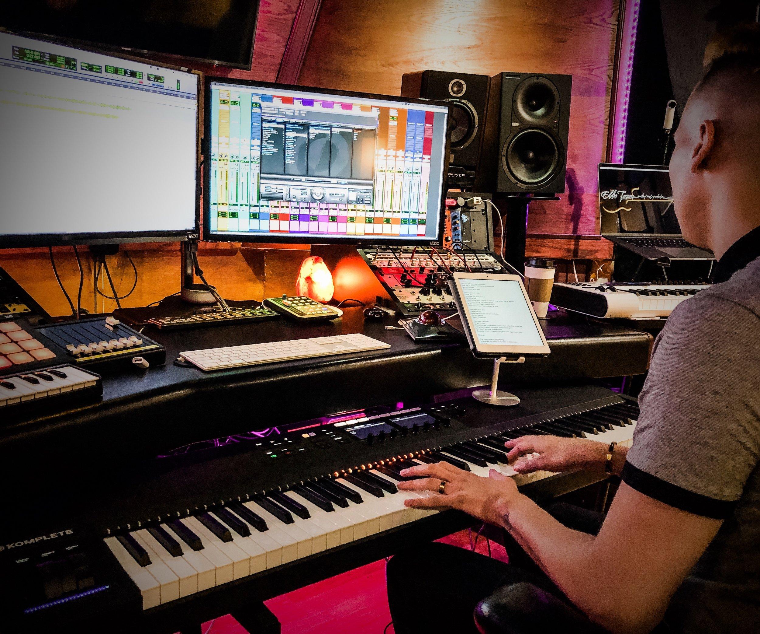 Devin Velez at Rushing Win Studio |  Courtesy of Jamie Rodriguez