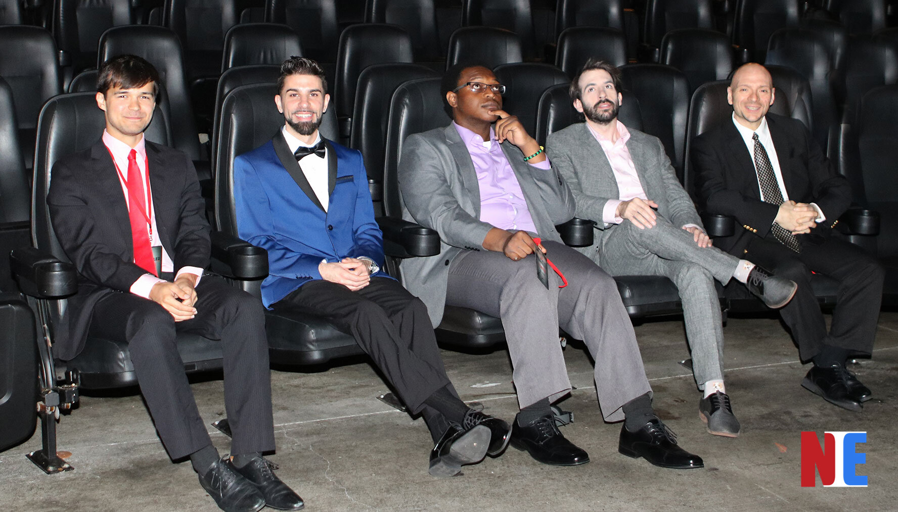 L-R Alex Ellsworth, Chase Michael Pallante, Divoni Simon, Sean A. Kaufman, and Michael Paladine at the Los Angeles premiere at Laemmle Theaters in Hollywood on June 12, 2019    Courtesy of NIE