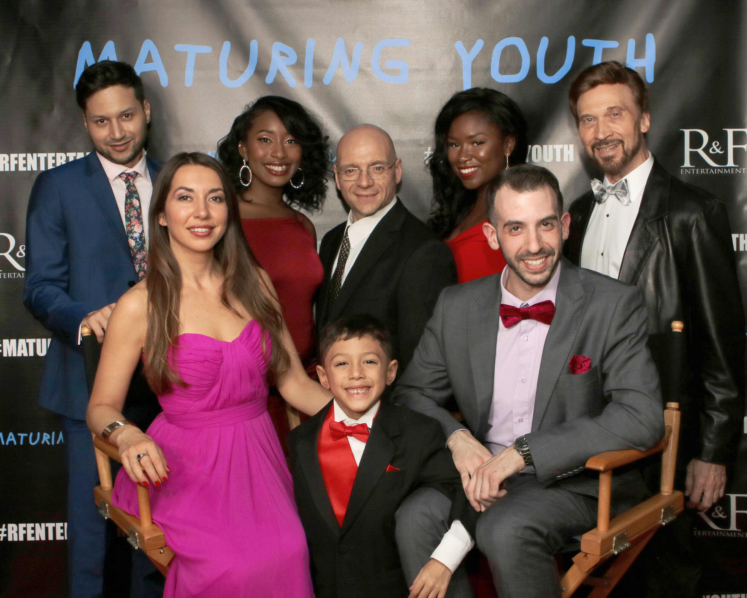 L-R Albee Castro, Kim Paris, Rae'l Ba, Joshua Saint Leger, Michael Paladine, Darleen Rae Fontaine, Sean A. Kaufman, and Terrence Keene at the world premiere in New York City on October 21, 2018    Courtesy of RNF