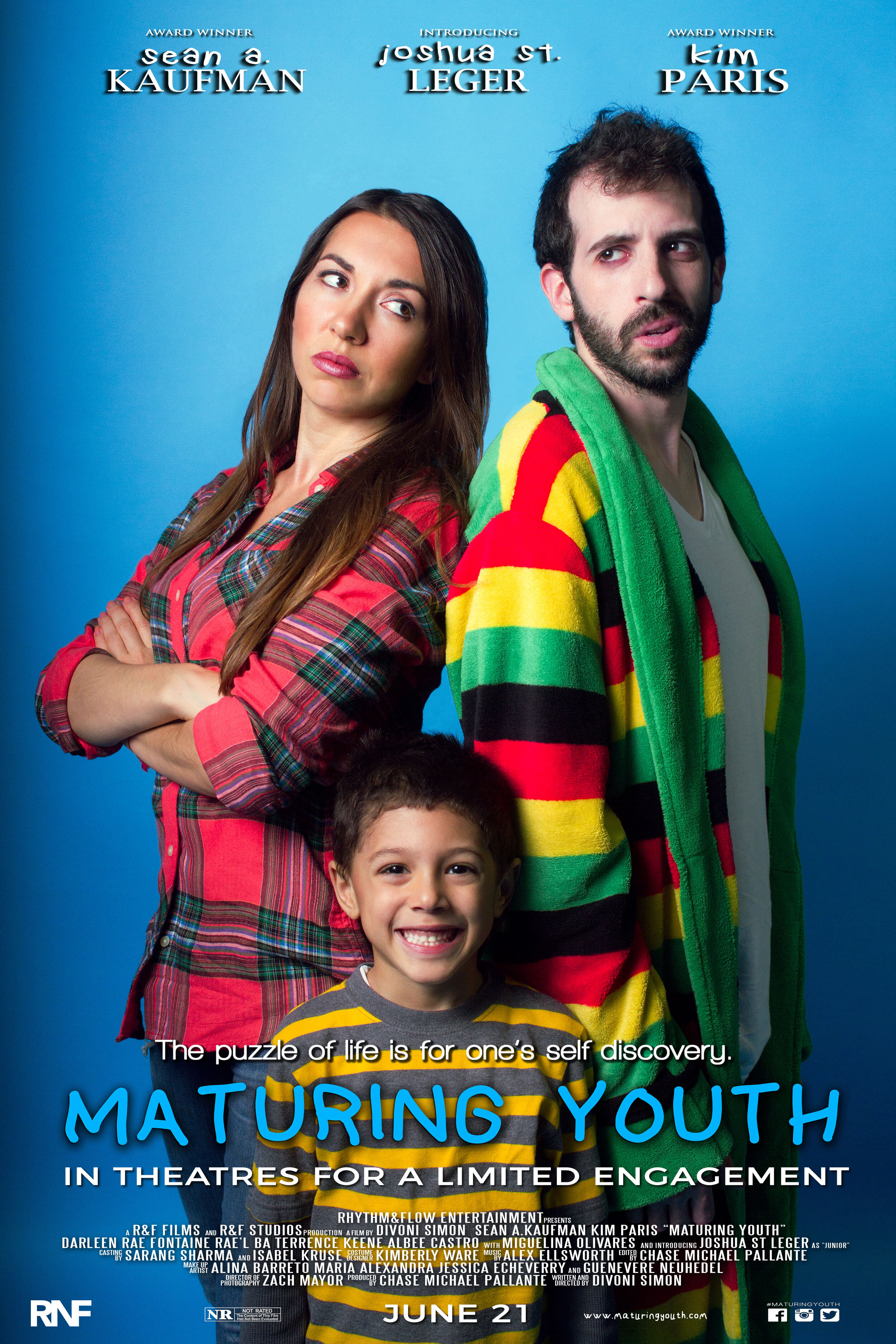 Official Movie Poster for Maturing Youth -  Courtesy of RNF