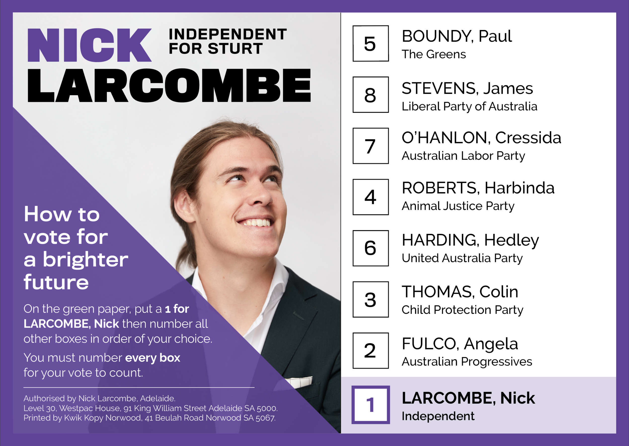 Nick Larcombe How to Vote