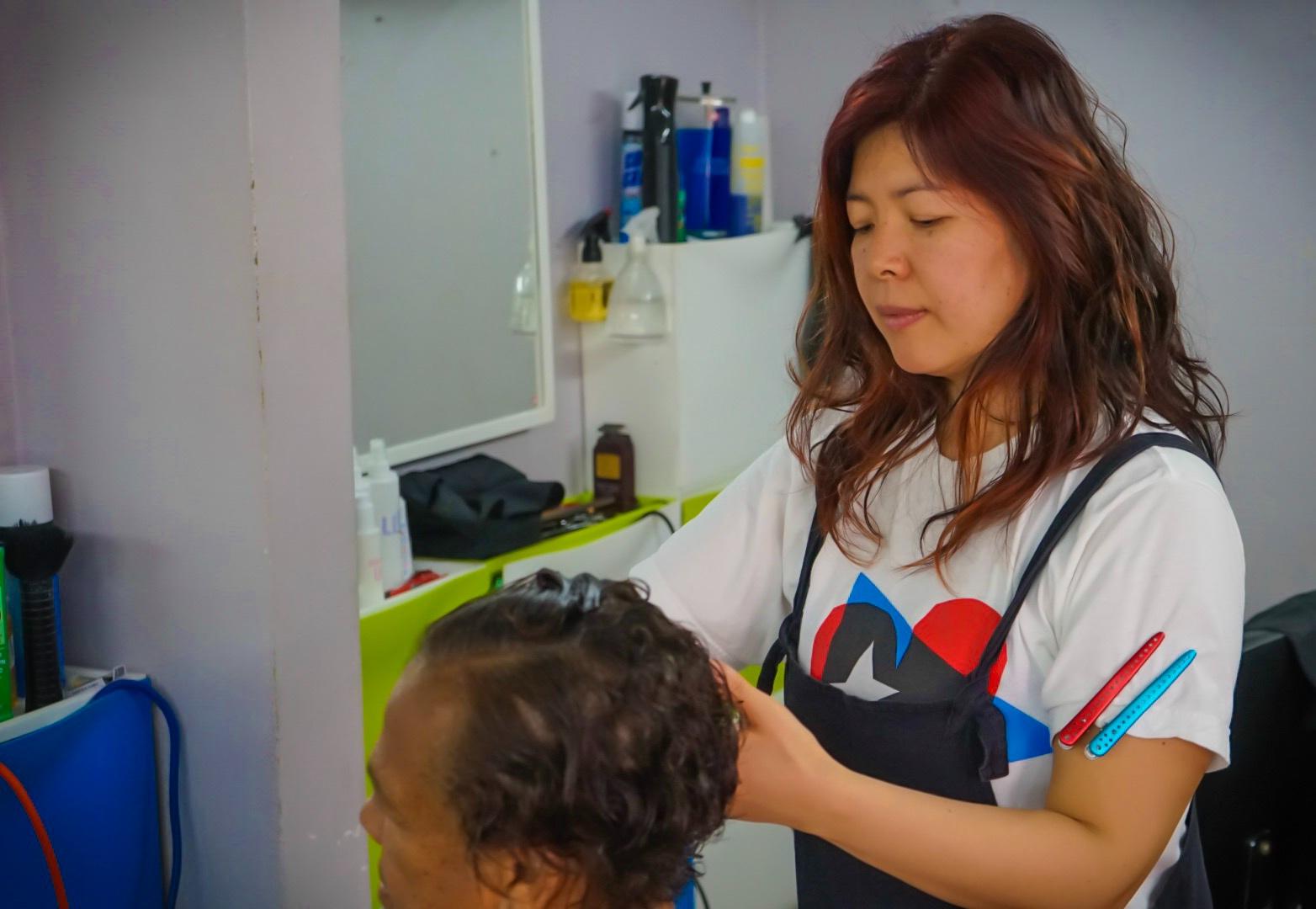 Volunteer Kumi Hirose
