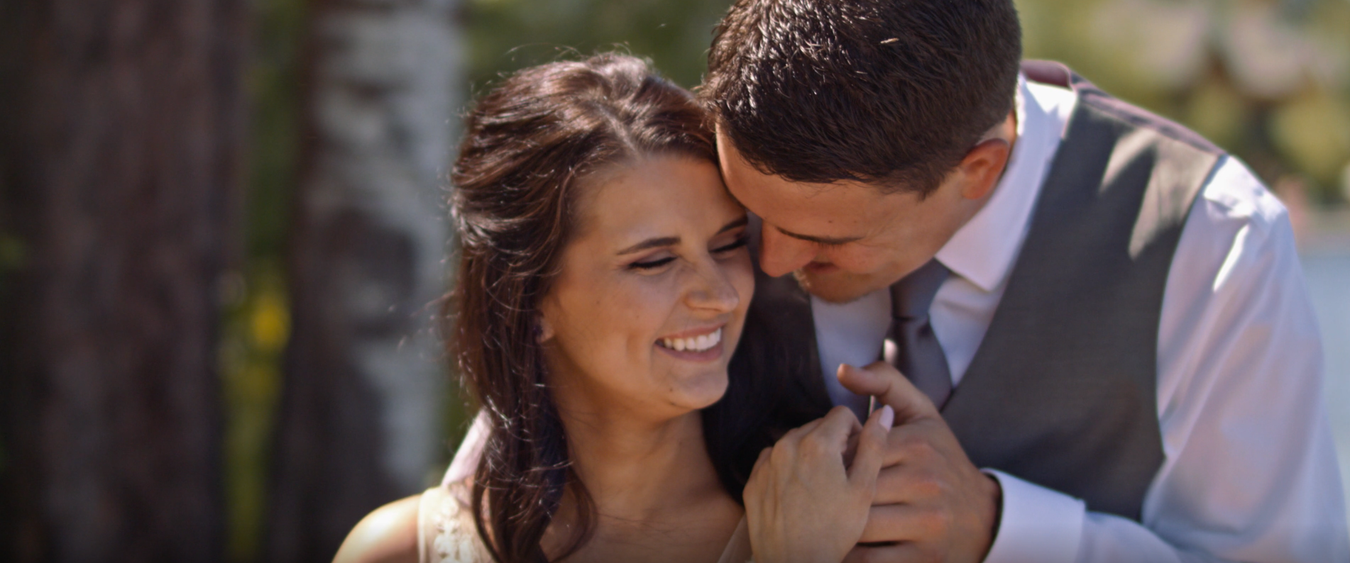 Stolen moments of our bride and groom during their first look, only hours before the ceremony!