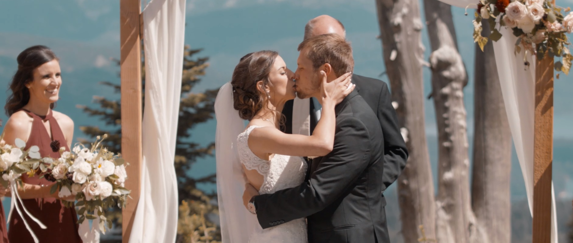 High on the mountain top a fairytale wedding memory was made! Just goes to show you don't need to travel far to have that beautiful destination wedding, some of the most beautiful sites may be hiding in plain site!
