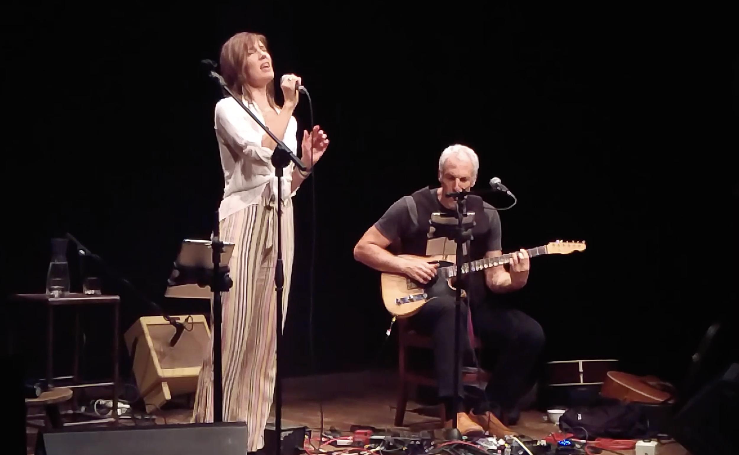 Jeff Pevar & Inger Nova. Duet concert. Teatro Del Sale, Florence, Italy. 2018.