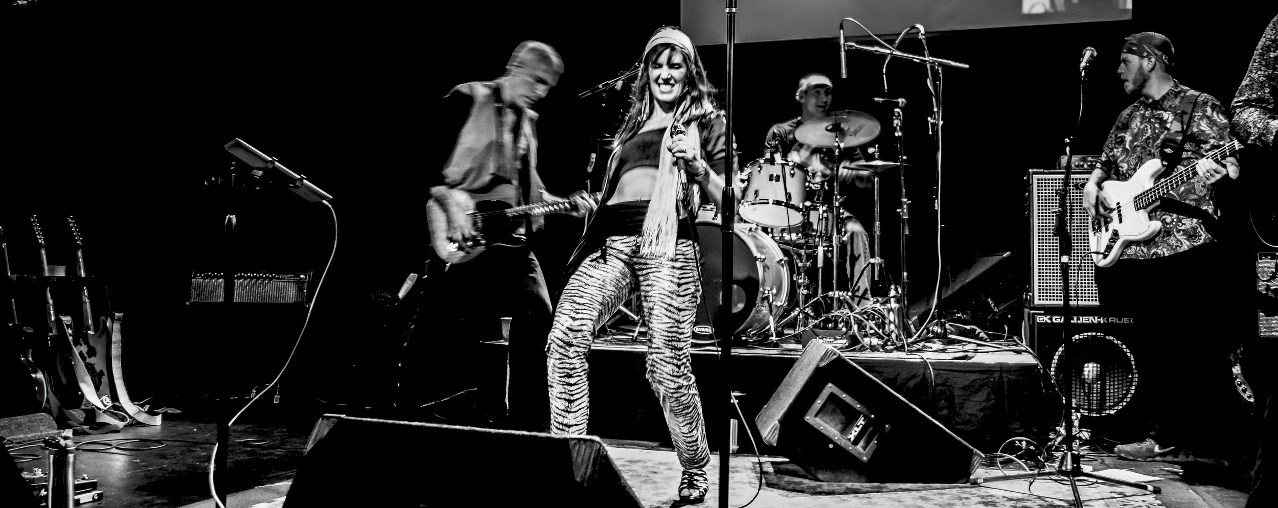 Inger singing Zeppelin with ZEPDRIX. The Rogue Theater Photo by Mark Arinsberg