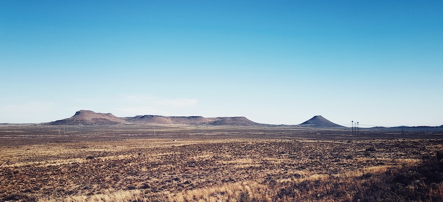 The view from behind a rock in the Karoo. Beautiful.