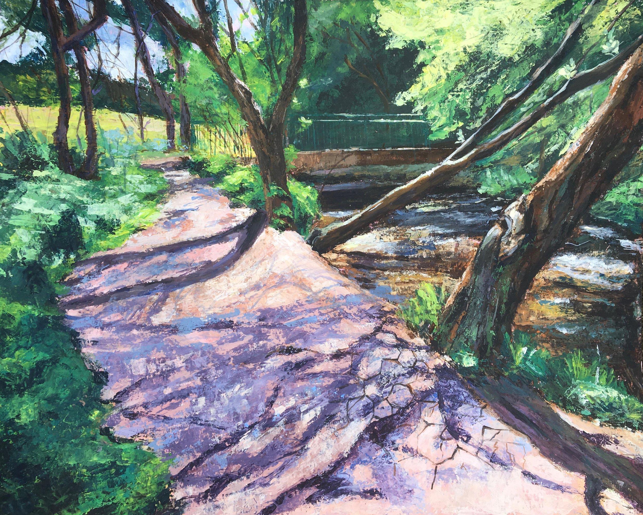 A Footbridge over Dollis Brook - 3