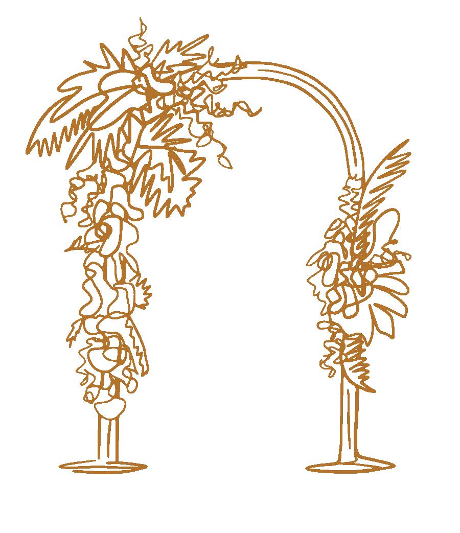 Asymmetrical Florals