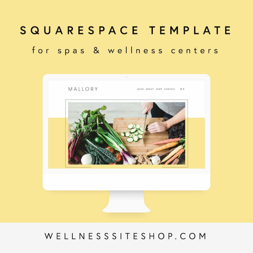 Squarespace template for food and wellness bloggers