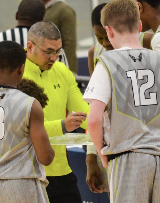 Coach So coaching his AAU basketball team