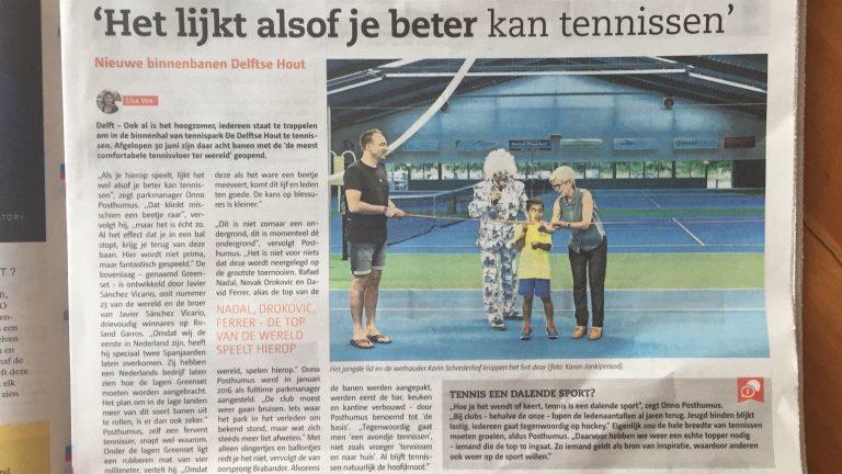 Het lijkt alsof je beter kan tennisen.