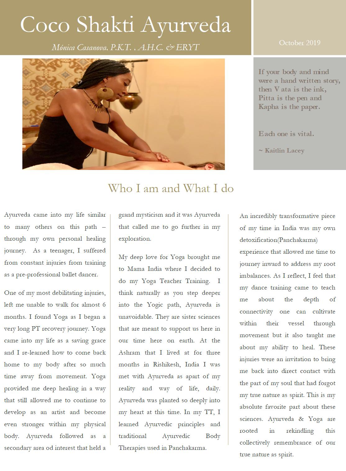 CocoShakti Ayurveda Newsletter Pg1.PNG
