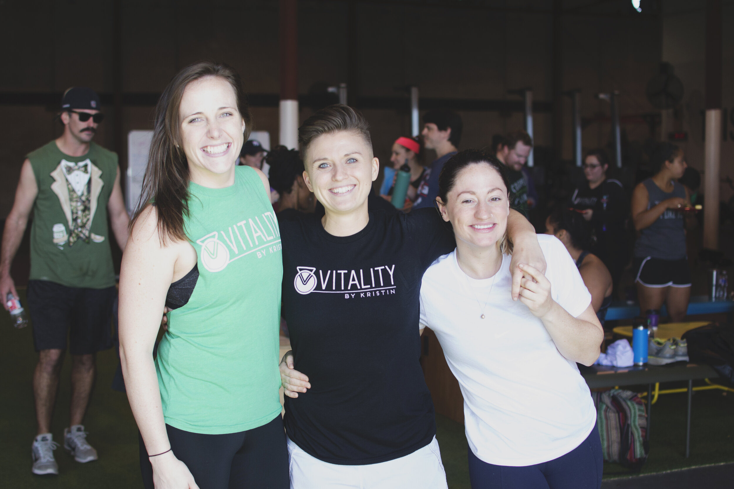 Kristin, Sarah, Greta, Carli - Our coaching staff is skilled at meeting you at your fitness level and pushing you to reach beyond it. Walking in is hard, but staying will be easy. Our members and coaches will surround you support and positive instruction.