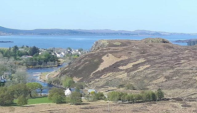 Looking north up Loch Ewe towards Inverasdale from a hill behind Poolewe.