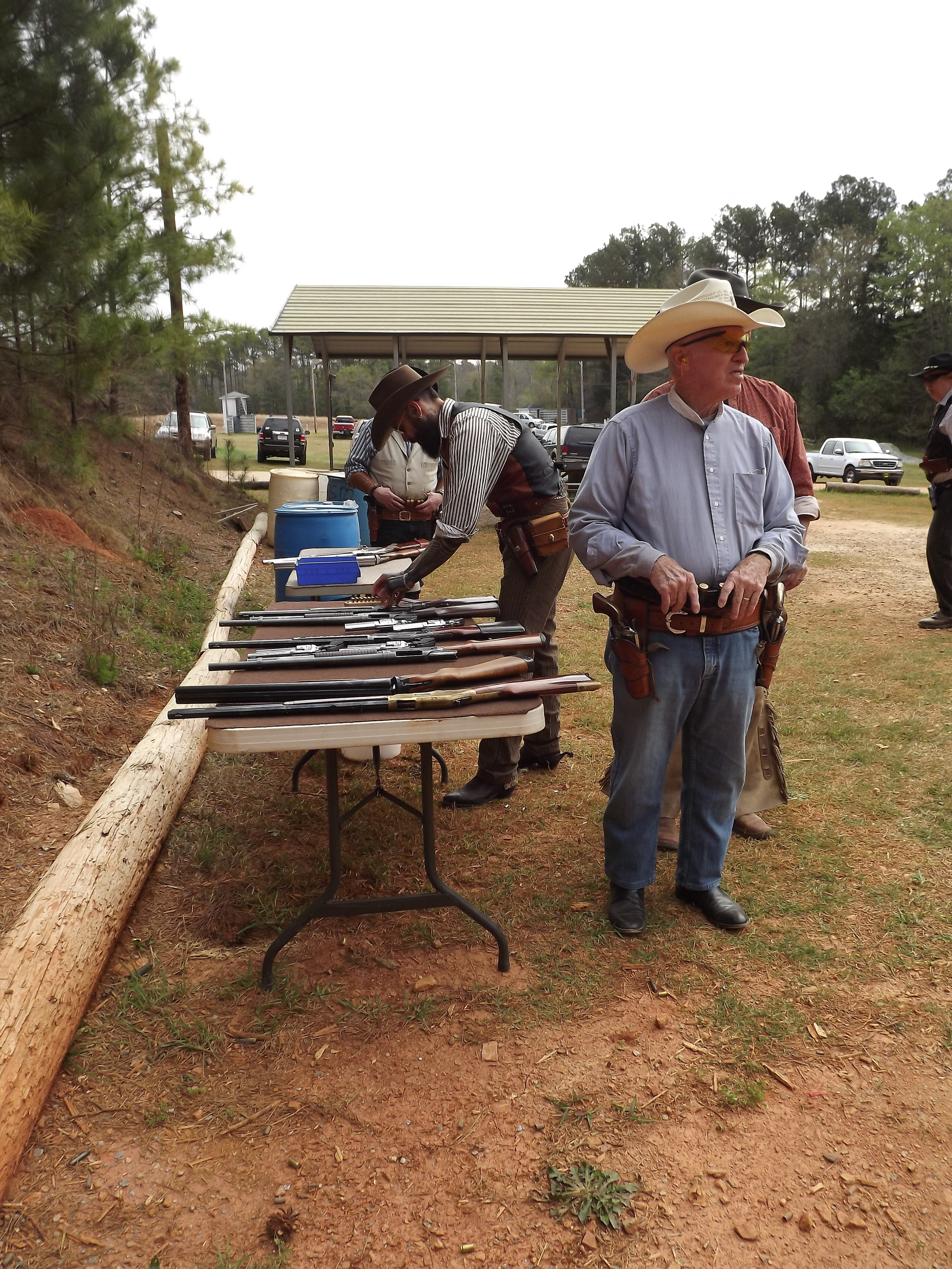 Ranger John Paxton and Squirrel Tail at the loading table